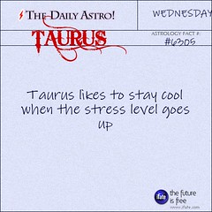 """The Daily Astro!"" Taurus Astrology Fact for Wednesday June 12th (iFate.com) Tags: stress taurus horoscope astrology ifate dailyastro"