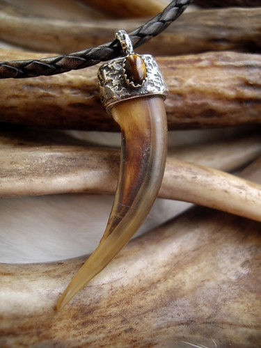 badger claw set in sterling silver