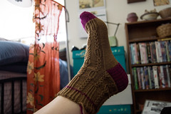 tiberius 1 (khasut) Tags: socks knitting cookieasockclub patterntiberius