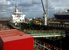 Our dry dock neighbour, Whitchampion (size4riggerboots) Tags: birkenhead drydock cadet merchantnavy stenaadventurer