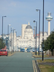 Port Of Liverpool Building (18mm & Other Stuff) Tags: city light england urban building liverpool river nikon or over telephoto end coolpix showing mile mersey thewirral