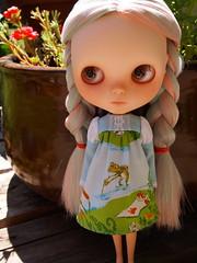 . (fishknees) Tags: ross doll dress heather alma fabric blythe etsy custom fishmarket fishknees moofala