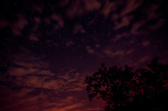 Parsoid I (Veistim) Tags: barcelona pink sky cloud silhouette night clouds stars landscape shower star spain purple violet starry meteor viladrau perseids nigihtsky