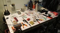 I hate wiring. (jimgskoop) Tags: blue bicycle cycling pelican custom racks randonneur boxdogbikes 2013 bdb eyefi
