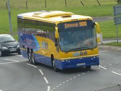 54032 - SF07 ANV (Cammies Transport Photography) Tags: bus volvo coach edinburgh glasgow roundabout scottish panther newbridge 900 stagecoach citylink plaxton 54032 sf07anv
