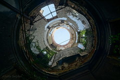 When you look up to the sky and realize how perfect everything is ... (Allette Snijder) Tags: decay ruine rune