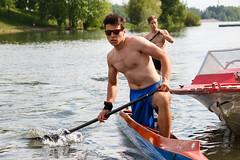 Kayaking on the Danube River (dauntlessdolphin) Tags: glasses budapest kayaking danube kopaszi