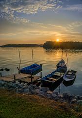 Blissful Morning | Lumut Perak (SalehuddinLokman) Tags: beach nature sunrise boat sony nationalgeographic fishermanboat beautyinnature beachphotography a6000