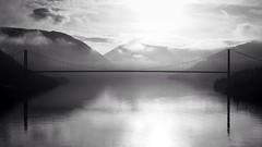 Dawn (fruingerjohanne) Tags: sea blackandwhite bw norway fog landscape dawn monocrome ostery