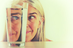 Glass Half Crazy (eddi_monsoon) Tags: threesixtyfive 365 selfportrait selfie self portrait glass