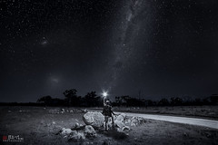 The Dark Road. (Bill Thoo) Tags: thedarkroad obley nsw australia milkyway sky stars night landscape travel explorer sony a7rii samyang 14mm ngc rural bush country road astrophotography longexposure blackandwhite