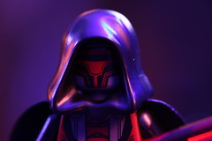 Revan (lego slayer) Tags: star wars lego legos revan sith jedi knight night neon glow portrait head shot