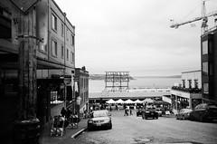 Pike Place (kawehna) Tags: 35mm kodak blackandwhite c41process expiredfilm pacific northwest travel adventure olympus stylus pointandshoot filmisnotdead ishootfilm filmoverdigital filmfeed seattle washington pikeplace market