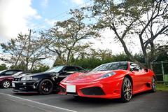 Ferrari 430 Scuderia & Nissan Skyline GT-R (Andr.32) Tags: fujispeedway  fsw photography car cars japan sportcar sportcars supercar supercars exotic super ferrari430scuderia ferrarif430 ferrari 430scuderia f430 scuderia v8 nissanskylinegtr nissan skylinegtr skyline gtr bnr34 r34
