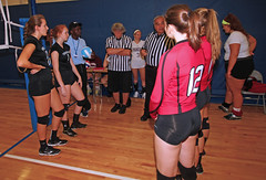 IMG_9488 (SJH Foto) Tags: girls volleyball high school mount olive mt team tween teen teenager varsity tamron 1024mm f3545 superwide lens pregame ceremonies ref referee captains coin toss