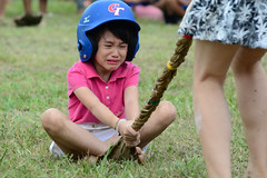 Not Having Fun 1 (Bob Hawley) Tags: people children palmfronds asia kaohsiung zuoying taiwan nikond7100 nikon80200f28 aborigines aboriginalculture festivals races crying portraits