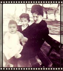 new born baby (Kay Harpa) Tags: enfance childhood biarritz 50ies littlekay blackandwhite familyphotos france thebiggestgroup