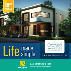 Blending eleganace with modern amenities and style - Nucleus Orchard is located near Lakeshore Hospital, Cochin.  Book Now, Visit us on www.nucleusproperties.in Call +91 9020 300 100  #Kerala #Kochi #India #House #Architecture #Home #C (nucleusproperties) Tags: life beautiful house kochi elegant style kerala realestate lifestyle india luxury villa comfort apartment nature architecture interior gorgeous design elegance environment beauty building exquisite view city construction atmosphere home living