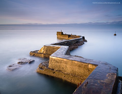Light Up, Light Up (Damon Finlay) Tags: nikon d750 nikond750 tamron 2470 f28 tamron2470f28 long exposure longexposure lee big stopper leebigstopper coast firth forth firthofforth fife st monans stmonans zig zag breakwater zigzagbreakwater harbour sunrise dawn