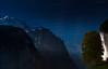 Starfall Over Lauterbrunnen (Marshall Ward) Tags: lauterbrunnen swissalps thealps switzerland startrails stars marshallward nikond800 afszoomnikkor2470mmf28ged landscape nighttime nightshot 2016