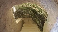 DSCF0071 glise monolithe d'Aubeterre-sur-Dronne (Charente) (Thomas The Baguette) Tags: aubeterresurdronne charente france monolith cave church tympanum glise glisenotredame saintjacques caminodesantiago sexyguy chateau cloister minimes mithra mithras cult