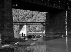 Kids playing with water (CU TEO MD) Tags: bw blackandwhite people children lake river rocks park nikon d750 ngc soe twop artofimages simplysuperb bridge