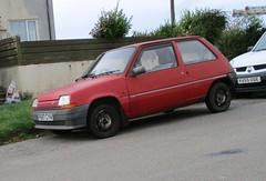 Renault 5 Campus (occama) Tags: f697cya renault 5 campus 1988 old car cornwall uk red french supercinq bangernomics