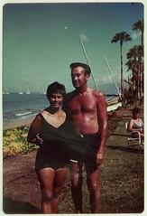 1978 Melba and Bill in Maui (lasertrimman) Tags: 1978 melba bill maui