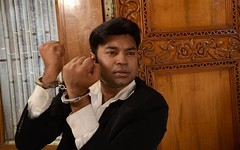 handcuffed businessman (sirspankmesir) Tags: handcuffed arrested man businessman suit inmate