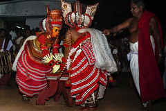 Theyyam 5  Front and Back (Anoop Negi) Tags: theyyam dance india kerala cannanore kanur ancient form portrait working anoop negi ezee123 photo photography