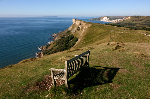 Gad Cliff and The Isle of Portland from Tyneham Cap, Dorset