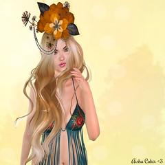 - Look 668 - (aisha.cahir  {Blogger}) Tags: secondlife free love hair tiara astralia petitemort boho fringe kawaiiproject mesange eyesmesh eyes designercircle bohoculturefair seasonsstory