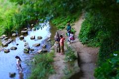 Summers day by The Dyke (Beardymonsta) Tags: miniatureeffect water waterway family stream thedyke paddling summer