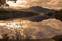 Venue View (TheWildFireOne) Tags: ben venue loch achray highlands water evening green sky clouds mountains reflections autumn lake scottish landscape trossachs 500px