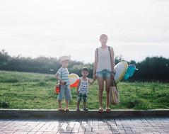 let's run down to the beach together! (Jerome Chi) Tags: 105mm f24 film 120 120film pentax pentaxcamera pentax67 67 6x7 filmcamera lovefilm filmphoto filmisgood filmisnotdead filmphotography filmphotograph kid kids family familylove portrait         taipei  taiwan kodak portra400