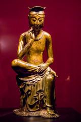 Pensive Bodhisattva (Yunhyok Choi) Tags: smcpentaxfamacro50mmf28 korea pentax pentaxk3 artifact bronze buddah buddhism gold museum sculpture statue   kr