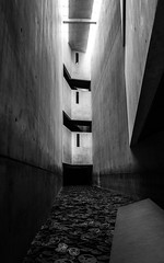 Jewish Museum 3 (MichaelBmxking) Tags: leica q leicaq leicatyp116 typ116 lightroom cc adobe berlin germany jewish museum blackandwhite black white architecture indoor structure building art memorial light shadow angle view silence lost own availablelight available