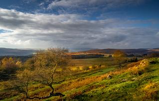 Landscape near Hathersage in Derbyshire Peak District