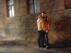 Autumn lovers (GrusiaKot) Tags: ucraina ukraine україна украина travelling autumn lovers copuple two kissing embrace evening romance kharkiv kharkov shadows alone