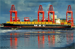 Officially Opened Today (Port of Liverpool)  Liverpool Two Deep Water Container Terminal (Peel Ports) 4th November 2016 (Cassini2008) Tags: portofliverpool liverpooltwodeepwatercontainerterminal rivermersey mscflorida msc containership shipping peelports mediterraneanshippingcompany