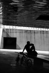 darkened thoughts (bostankorkulugu) Tags: bike bicycle dark darkened thoughts door museublau bluemuseum barcelona forum parcdelforum plaaleonardodavinci nat museublaudebarcelona herzogmeuron architecture silhouette ccib museum museu diagonalmar hand modern urban art eacts eactsannualmeeting centredeconvencionsinternacionaldebarcelona man light spain congress catalonia catalunya europe korkut blackandwhite bw bostankorkulugu bostanci bostan blackwhite black monochrome sepia graphism graphics geometry white decisivemoment alone