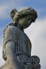 Watch Over the Grave (MTSOfan) Tags: sculpture cemetery gravemarker woman girl mountjoy