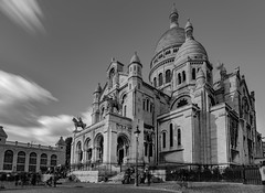 Sacré-Cœur Basilica (Aleem Yousaf) Tags: basilica sacred heart paris sacrécœur roman catholic montmartre paul abadie church historical monument architecture worship long exposure nikon d800 wide angle blackandwhite monochrome building cityscape city outdoor