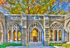 Chapel Garden (devendranegi1) Tags: washington memorial chapel valley forge state park hdr architecture photography photomatix