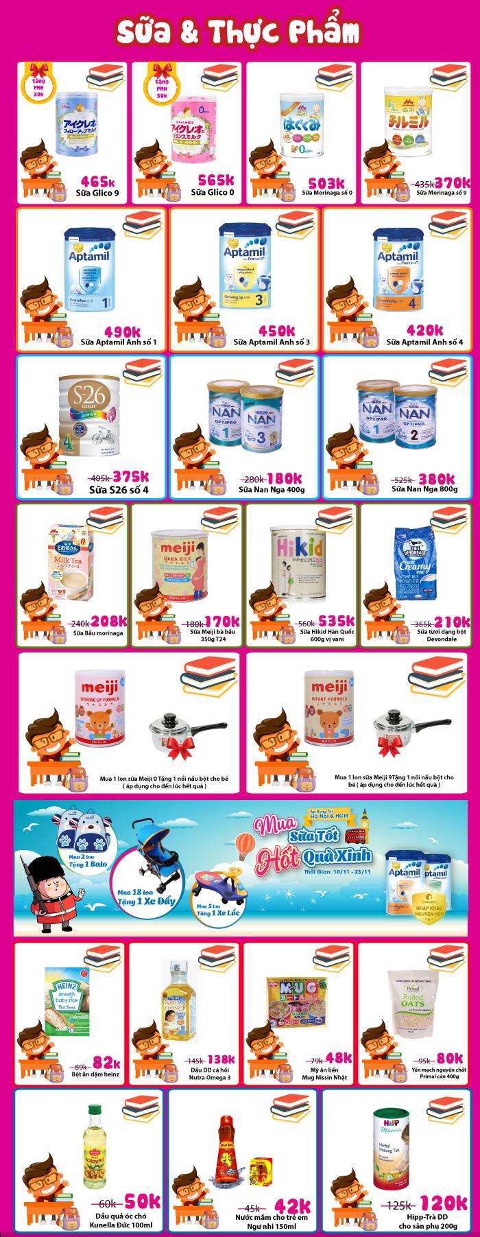 """Chương trình khuyến mại chào mừng 20/11 """"Cảm ơn Mẹ - Cô giáo của con"""" (17 - 23/11) tại siêu thị Mẹ&bé TutiCare"""