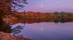pink moonrise (mgstanton) Tags: framingham saxonville beach lake moon sunset on1 on1pics sonyalpha