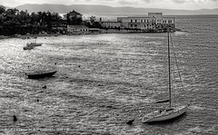 SIROCCO (zkapov1) Tags: croatia kraljevica carovo sirocco jugo storm boats bw waves tunera castle berth