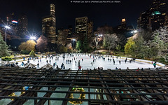 Evening at Wollman Rink (DSC05643) (Michael.Lee.Pics.NYC) Tags: newyork centralpark wollmanrink night cityscape trump 2016 lattice architecture sony a7rm2 voigtlanderheliar15mmf45
