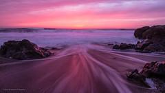Blaze of Glory (carolina_sky) Tags: beanhollowstatepark sanfrancisco northerncalifornia sunset glow beach waves pebbles tafoni pacific ocean pch pentaxk1 pentax2470mm