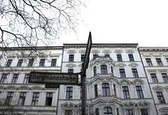 Bergmannstrasse, Berlin (lady_barbona) Tags: bergmannstrasse berlin kreuzberg buildings architecture street strasse white classic contrast house neoclassic history